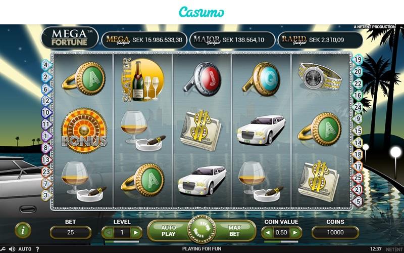 Mega Fortune hos Casumo
