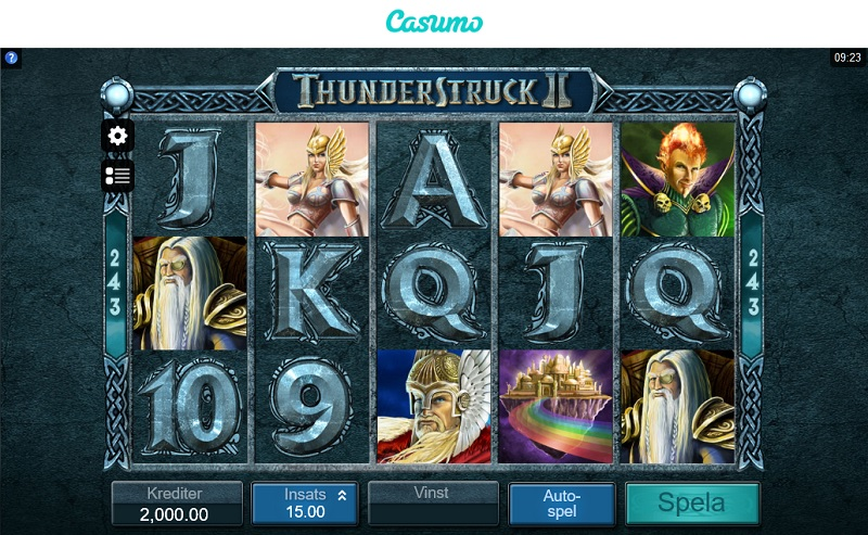 Thunderstruck 2 hos Casumo